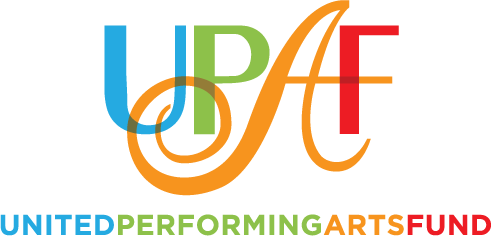 Logo for UPAF United Performing Arts Fund, proud supporter of Renaissance Theaterworks